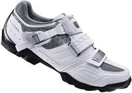 womens bike shoes shimano wm64 spd womens mtb shoes white black buy online