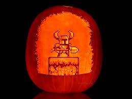 Meme Pumpkin Stencil - pumpkin knight shovel knight know your meme