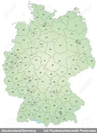 Zip Code Mapping by Map Of Germany With Zip Codes In Green Royalty Free Cliparts