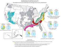 Map Eastern Usa by Groundwater Quality In Eastern U S