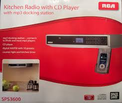 Under The Cabinet Kitchen Radio Rca Under Cabinet Kitchen Radio With Cd Player And Mp3 Docking