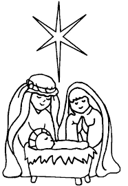 christmas coloring pages the web art gallery nativity scene