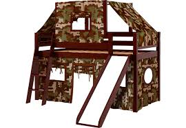 Bunk Bed With Slide And Tent Camo Cabin Cherry Jr Tent Loft Bed With Slide And Top Tent Bunk