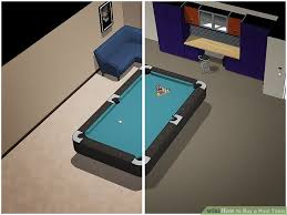 how big of a room for a pool table how to buy a pool table 9 steps with pictures wikihow