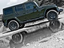 green jeep wrangler unlimited kahn reimagines jeep wrangler unlimited in a military green hue
