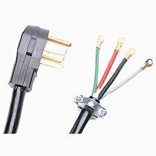 shop utilitech 50 amp 125 250 volt black 4 wire grounding plug at