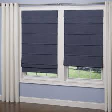 elegant home fashions navy room darkening cordless fabric roman