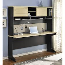 altra benjamin u shaped desk with hutch cherry and gray hayneedle