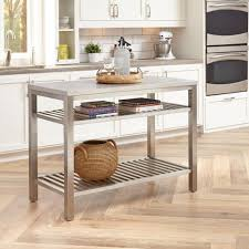 stainless kitchen island home styles brushed satin stainless steel kitchen island 5617 94