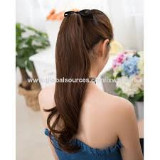 synthetic hair extensions china synthetic drawstring ponytail haircut elastic band