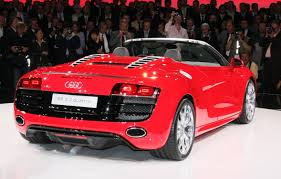 Audi R8 Back - first look 2010 audi r8 5 2 spider thedetroitbureau com