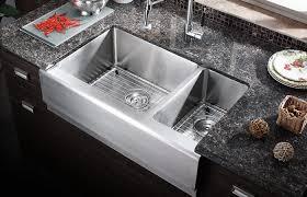 chef az203 1 1 2 double bowl apron kitchen sink 16 gauge combo