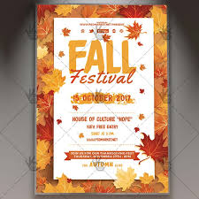 fall flyer autumn leaves flyer design template autumn leaves