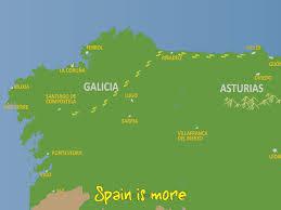 Camino De Santiago Map Camino Del Norte Avilés Santiago Camino Del Norte Ribadeo