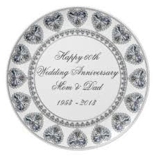 60th wedding anniversary plate 60th wedding anniversary plates zazzle