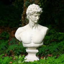 greek god statue with aged bronze finish garden statues