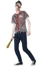 street fighter halloween costumes undead baseball player halloween costume zombie teen boys costume