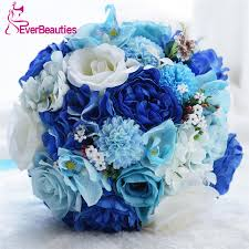 blue wedding bouquets blue wedding bouquets for brides buque de noiva outside wedding