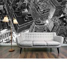 penthouse view mural an enhanced black and white photo image of gallery wall