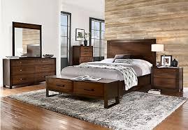 5 pc queen bedroom set abbott hazelnut 5 pc queen panel bedroom with storage contemporary