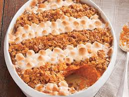 cornflake pecan marshmallow topped sweet potato casserole recipe