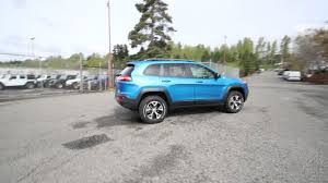 jeep trailhawk blue 2017 jeep cherokee trailhawk blue pearl hw659746 redmond