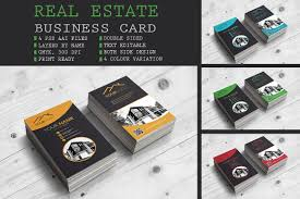 real estate business card business card templates creative market