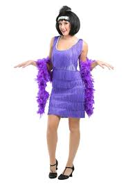 flapper halloween costumes for womens fringe purple flapper costume
