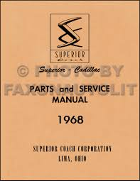 1968 cadillac cd repair shop manual body manual and parts book