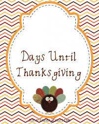 countdown to thanksgiving printable fall