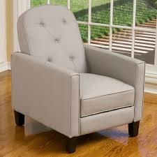 shop best selling home decor johnstown beige faux leather recliner