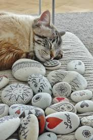 Cat Garden Decor Painting Stones 40 Ideas For Original Tinkering With Stones