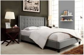 amazon com modern button tufted wingback gray linen upholstered