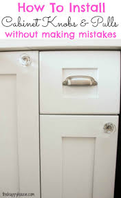 Kitchen Cabinets Without Handles How To Install Cabinet Knobs With A Template A Trick For Avoiding