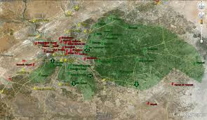 Damascus Syria Map by Military Map Of Damascus Yalla Souriya
