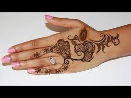 how to draw rose henna design i step by step youtube