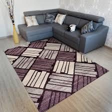 Wohnzimmer Teppiche Modern Teppich Modern Neu Streifen Karo Muster Sehr Kurzflor Ins
