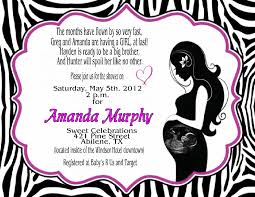 Minnie Mouse Baby Shower Invitations Templates - pink zebra stripes baby shower invitations baby shower decoration
