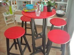 Plastic Bar Table Set Of Contempo Bar Table 61 Cms 4 Bar Stools Hdpe Plastic Lumber