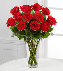 Vase With Roses The Long Stem Red Rose Bouquet By Ftd Vase Included