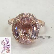 morganite ring gold 676 oval morganite engagement ring pave diamond wedding 14k