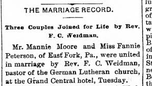 hotels olean ny mansworth and fannie peterson married at grand central hotel
