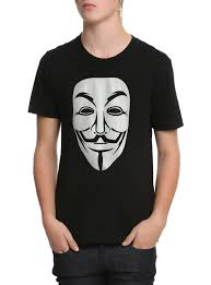 anonymous mask spirit halloween v for vendetta guy fawkes mask t shirt topic