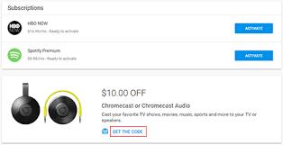 redeem your chromecast discount fiber help