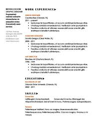 Resume Samples For Cleaning Job by Simple Resume Templates 75 Examples Free Download