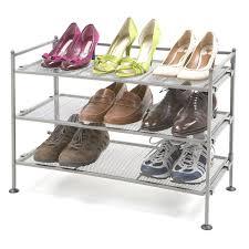 amazon com seville classics 3 tier iron mesh utility shoe rack