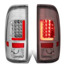 2016 f350 tail lights ford f350 super duty 2008 2016 chrome custom led tail lights red