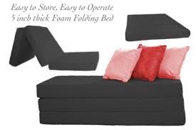 folding foam sofa bed folding foam bed black 5inch trifolding the futon shop folding sofa