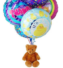 balloons with teddy bears inside teddy ballon gift baskets flowers wrapped gifts affordable