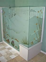 frosted glass shower door frameless dsrt in blm frmls gls shr doors etched glass western style